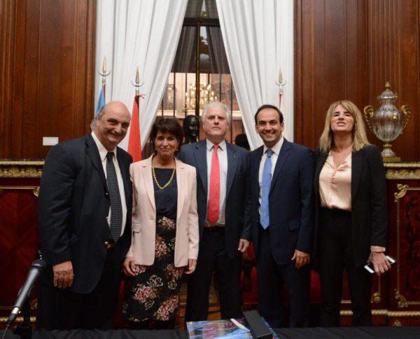 Visita de la Presidente De Suiza en La Legislatura Porteña