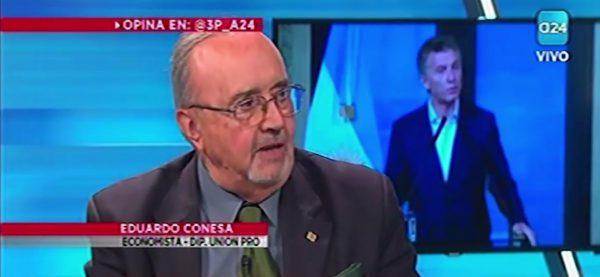 Eduardo Conesa presentó la Ley de Desarrollo en TV