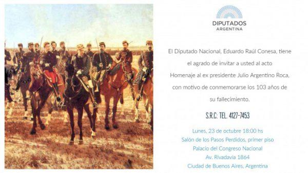Homenaje a Julio Argentino Roca