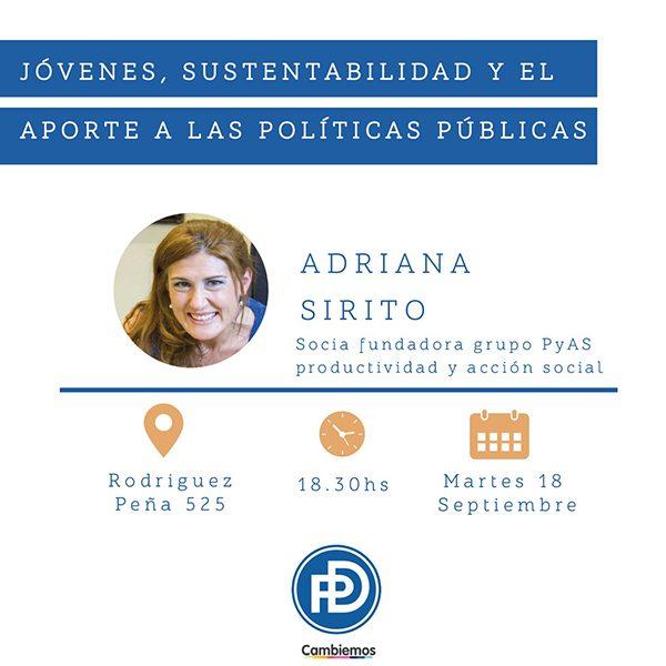 Adriana Sirito Jovenes, Sustentabilidad y el Aporte a las Polícitas Públicas