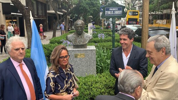 Emplazamiento del Busto en homenaje al Dr. Emilio J. Hardoy